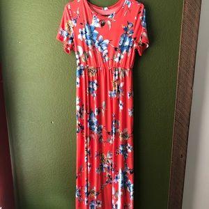 Pinkblush floral maxi dress